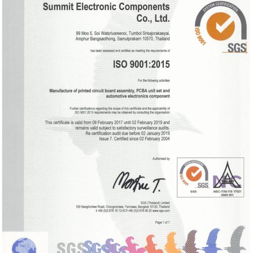 Sec Certificate ISO 9001 2017 Page 1 (2)